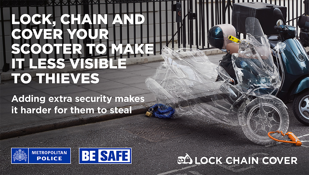 Poster for the Metropolitan Police's Be Safe Campaign