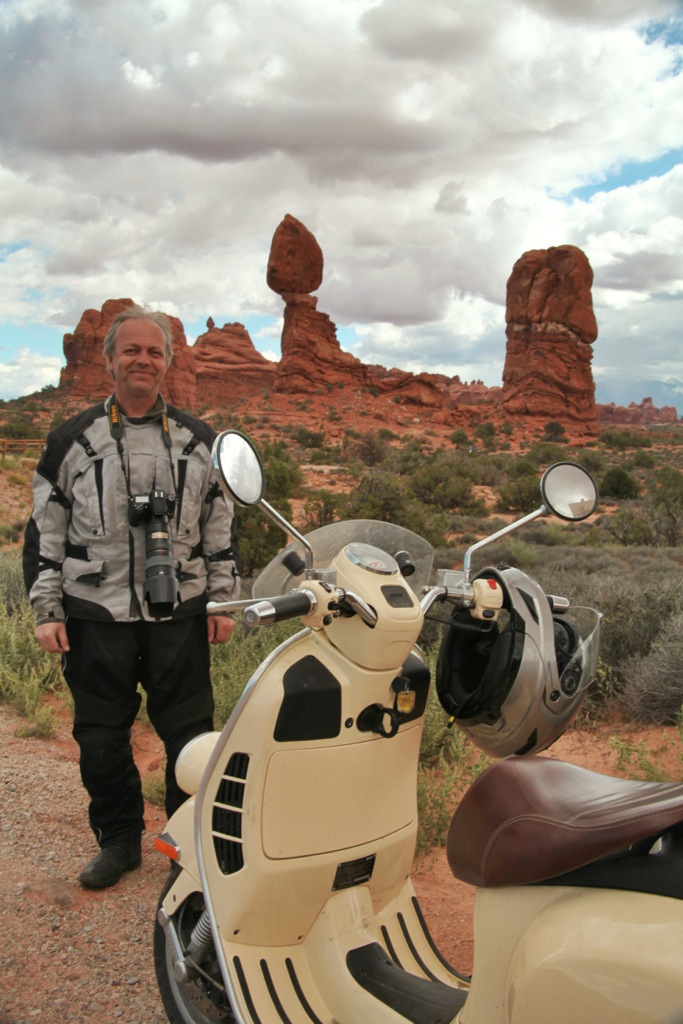 Me with my scooter in Arches National Park