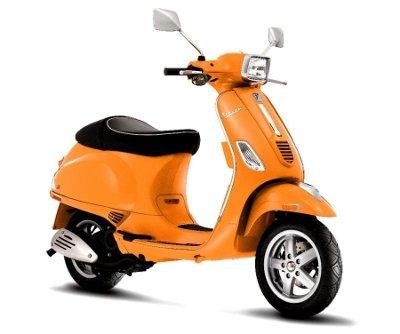 Orange Vespa Scooter
